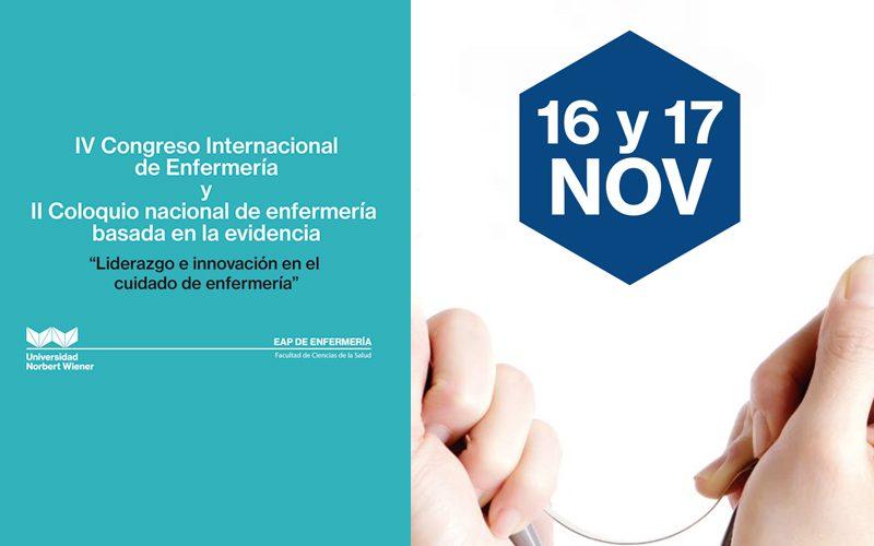 IV Congreso Internacional de Enfermería y II Coloquio Nacional de Enfermería Basada en la Evidencia