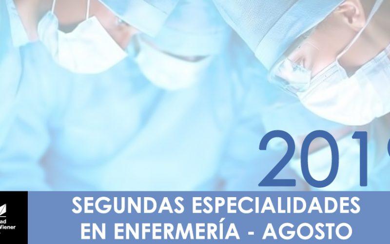 SEGUNDA ESPECIALIDAD EN ENFERMERIA  2019-II